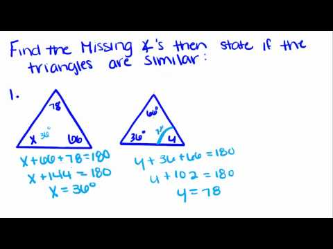 Introduction to Geometry - 21 - Identifying Similar Triangles AA