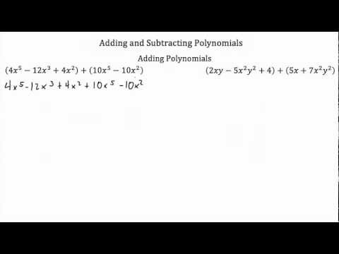 Operations with Polynomials -Adding/Subtraction-Textbook Tactics