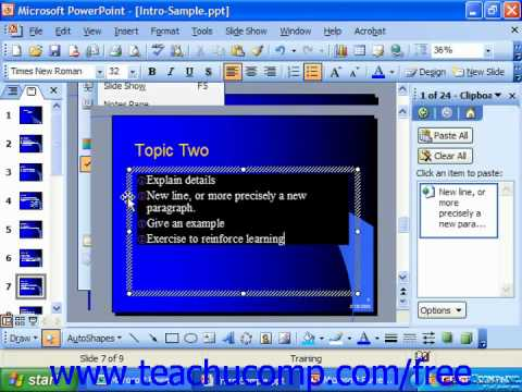 PowerPoint 2003 Tutorial Showing & Hiding the Rulers Microsoft Training Lesson 7.11