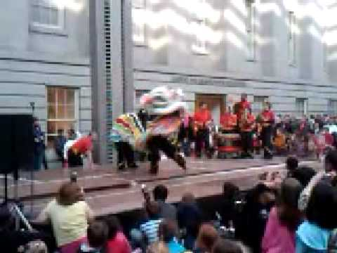 Lion Dance at Smithsonian Donald W. Reynold's Center for Art and Portraiture