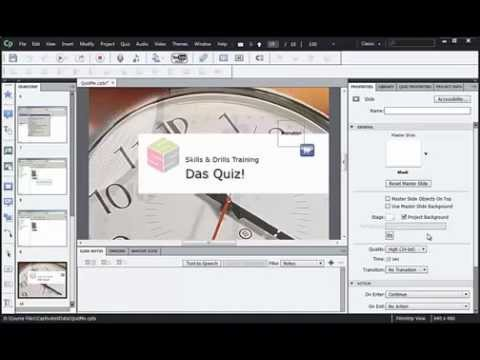 Captivate Tutorial: How to Create a Quiz in Adobe Captivate 6