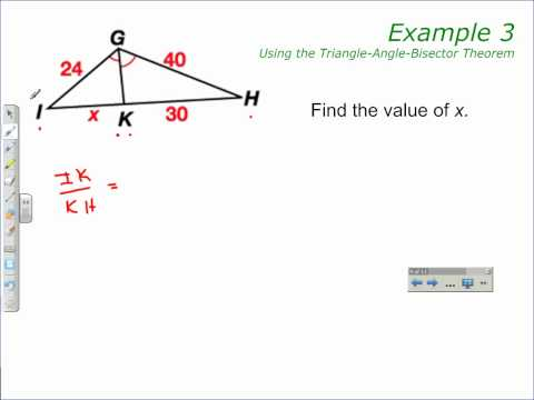 Triangle-Angle-Bisector Theorem