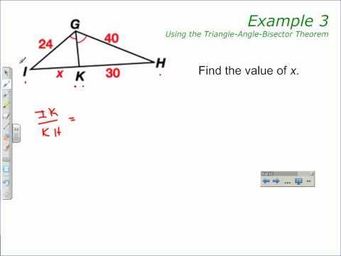 Triangle-Angle-Bisector Theorem