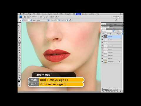 Photoshop: Enhancing the tone of the lips | lynda.com