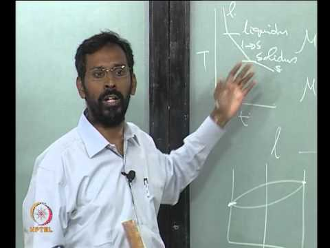 Mod-01 Lec-06 Phase rule, free energy-composition diagrams and phase diagrams