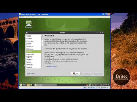 How to Install Linux Mint 7 on a VirtualBox by Britec