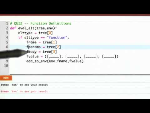 Function Definitions - CS262 Unit 5 - Udacity
