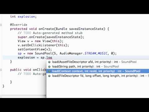 Android Application Development Tutorial - 79 - SoundPool helps with explosions