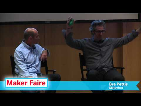 "Chris Anderson & Bre Pettis ""Maker Movement to New Industrial Revolution"" at World Maker Faire 2012"
