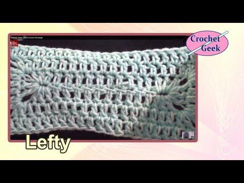 Left Hand Solid Crochet Rectangle