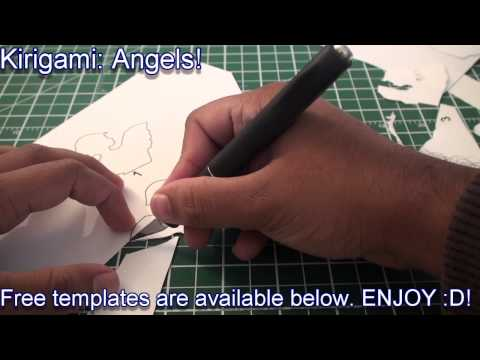 Kirigami Pop Up: Angel In Clouds Greeting Card - TCGames [HD]