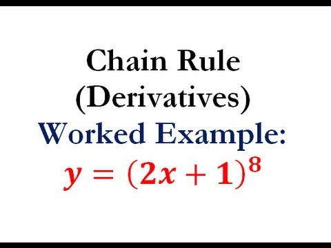 Derivatives - Chain Rule Question #1