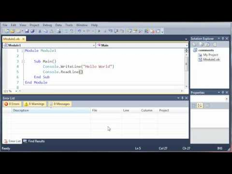 Visual Basic Tutorial - 7 - Errors
