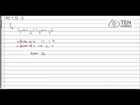 Factor ax^2 + bx + c When c Is Negative