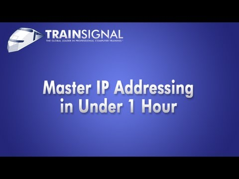 TrainSignal Webinar: Networking Fundamentals: Mastering IP Addressing in Under 1 Hour