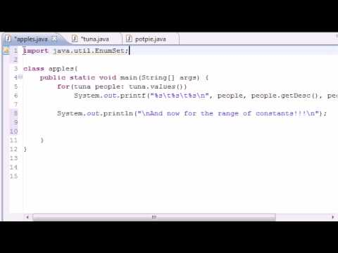 Java Programming Tutorial - 45 - EnumSet range