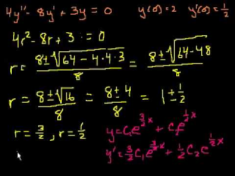 2nd Order Linear Homogeneous Differential Equations 4