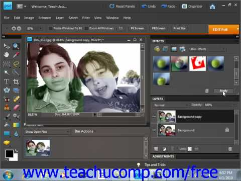 Photoshop Elements 9.0 Tutorial Applying Photo Effects Adobe Training Lesson 13.11