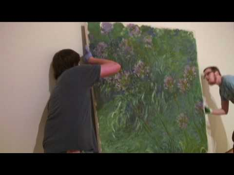 Watch Installation Of Two Monet Masterpieces
