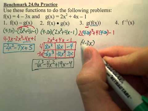 Benchmark 24a Practice - Algebra 2