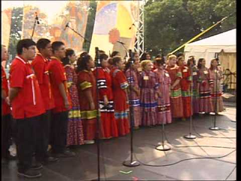 "The National Cherokee Youth Choir performs ""Orphan Child"""
