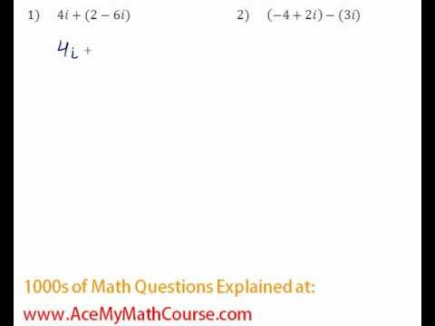 Complex Numbers - Operations #1