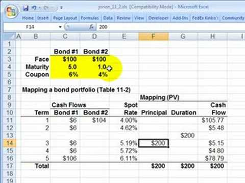Mapping a fixed income portfolio (Intro VaR Mapping)