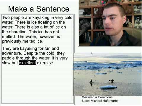 Learn English Make a Sentence and Pronunciation Lesson 94: Kayaking in the Cold