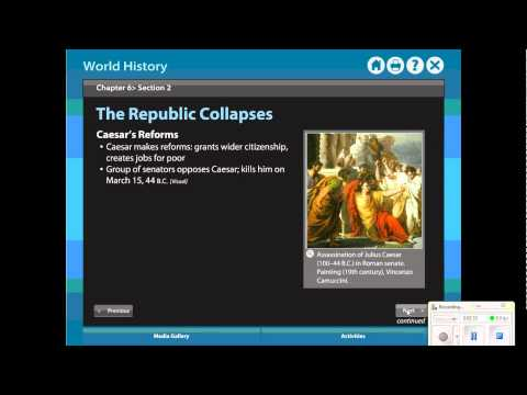 Review- Chapter 6 Sections 1-2 - Roman Republic and Empire.wmv