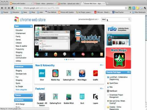 Adding an App to your Chrome Account