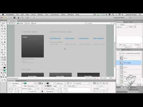 Adobe Fireworks CS6 -jQuery mobile theme skinning support