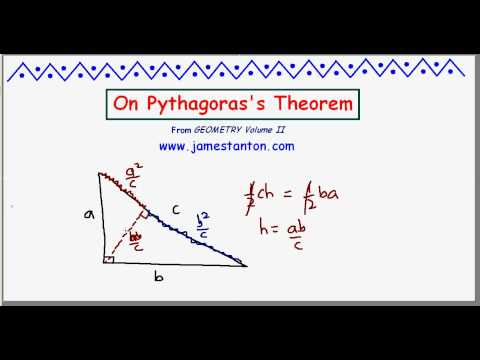 On Pythagoras's Theorem (TANTON Mathematics)