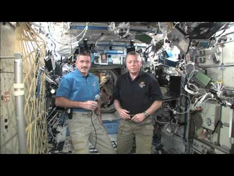 Space Station Astronauts Talk to Houston Media