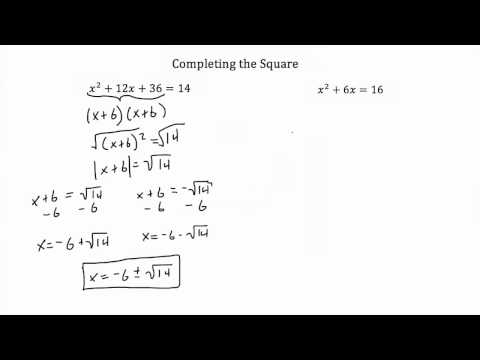 Completing the Square PT 1