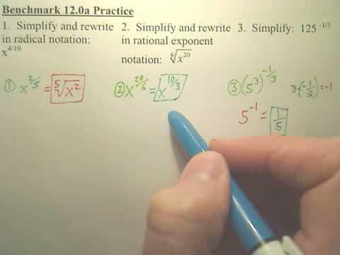 Benchmark 12a Practice - Algebra 2