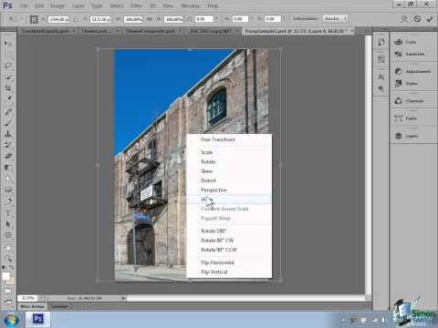 Photoshop CS6 Tutorial: Using the Transform Tool
