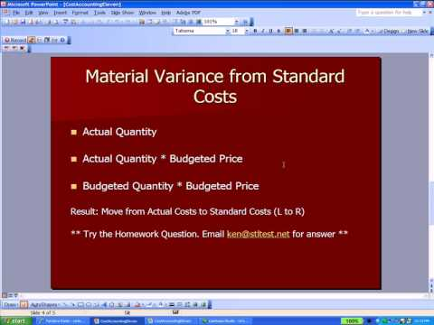 Cost Accounting 11- Standard Costs, Variances