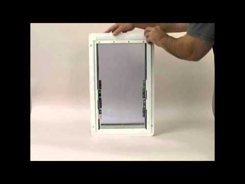 Insulator Pet Door Adjusts to Fit your Door, Available in 4 Sizes - The Home Depot