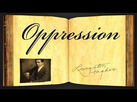 Pearls Of Wisdom - Oppression by Langston Hughes - Poetry Reading