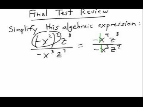 How to Simplify Algebra Expressions #2