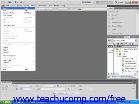 Dreamweaver CS5 Tutorial Creating External Style Sheets Adobe Training Lesson 9.1