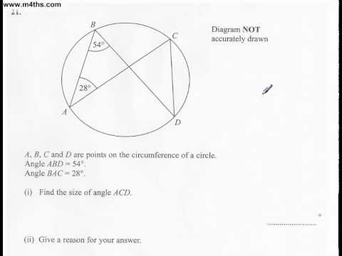 q21 Edexcel Linear Higher June 2011 calculator (quick worked example)