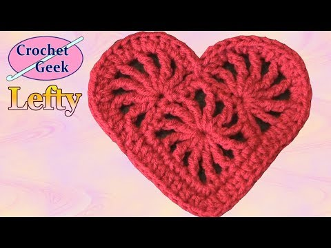 Crochet Heart Felicity Left Hand Version - Crochet Geek