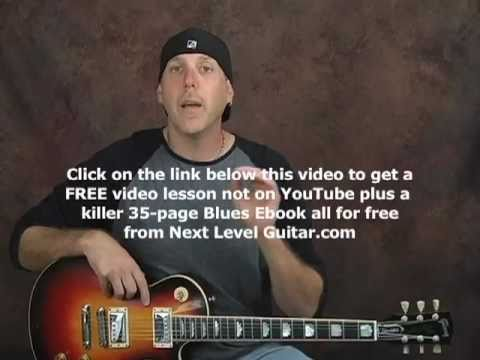 Rock Blues licks guitar lesson add pinky strength string bending tips on Gibson Les Paul