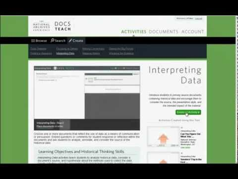 How to Create an Interpreting Data Activity on DocsTeach