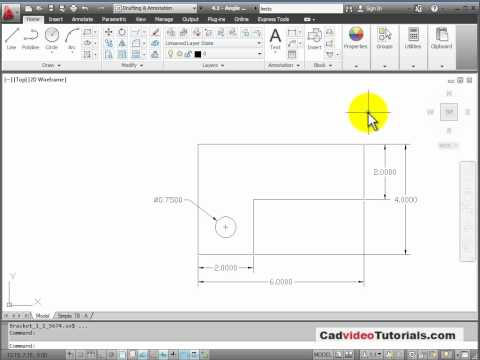 AutoCAD 2012 Tutorial - 4.5 - Add Dimensions to the Object