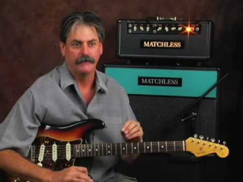 Learn blues lead electric guitar riffs lesson matchless amp