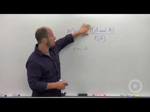 Algebra 2 - Conditional Probability