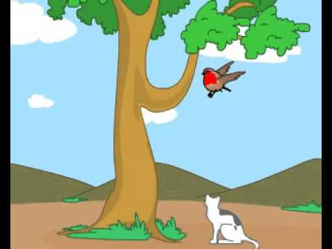 Little Robin Red Breast - Animated English Nursery Rhyme