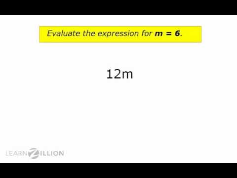 Solve expressions by substituting variables with values - 6.EE.2